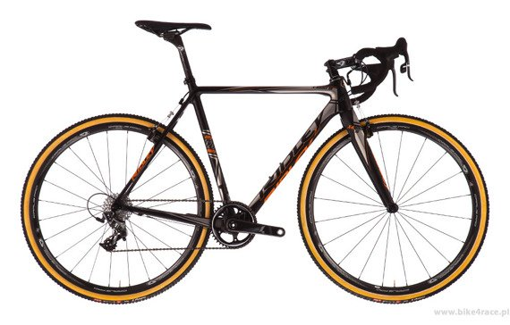 Cyclocross bicycle RIDLEY X-NIGHT SL - Ultegra Canti – color XNI-01BM (Black-Grey-Orange)