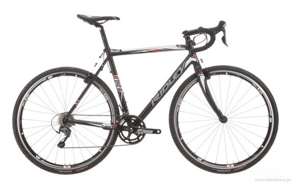 Cyclocross frameset RIDLEY X-BOW – color XBO-01AM (Black-White-Hyper Red)