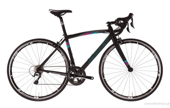 Road frameset RIDLEY LIZ A – color LI7-01BM (Black-Cyan-Purple)