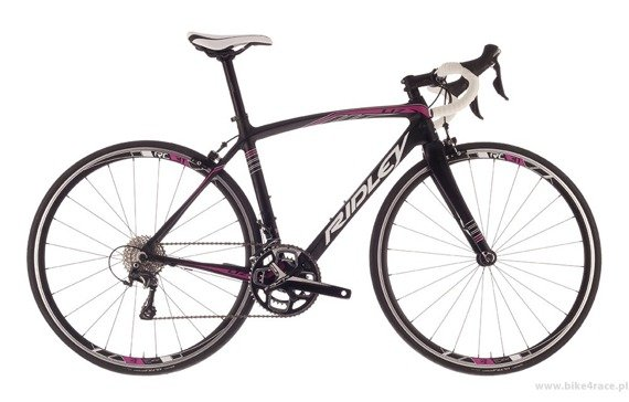 Road frameset RIDLEY LIZ C – color LIC-01BM (Black-White-Purple)