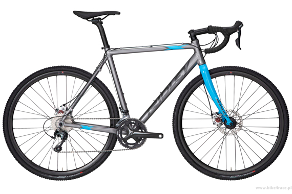 Cyclocross bicycle RIDLEY X-BOW DISC - Tiagra Mechanical Disc – color XBO-04AS (Empress Grey Metallic-Belgian Blue-Anthracite Metallic)