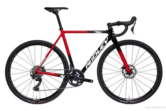 Cyclocross bicycle RIDLEY X-NIGHT DISC - GRX600 2x11s - color XNI-08AS (Black-Red-White)
