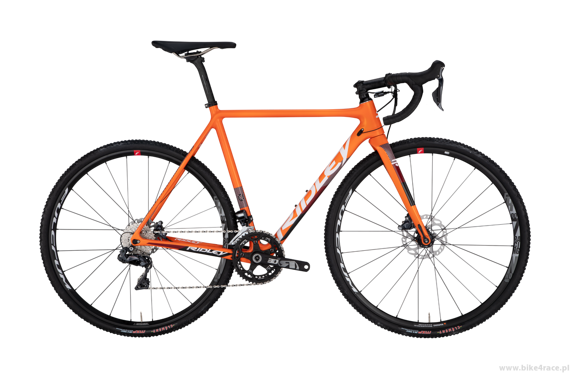 Cyclocross bicycle RIDLEY X-NIGHT DISC - Ultegra ML Hydraulic Disc – color XNI-04BST (Orange-White-Red)