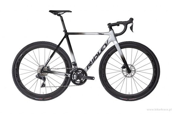 Cyclocross bicycle RIDLEY X-NIGHT SL DISC - GRX800 2x11s Di2 Hydraulic Disc – color XNI-07AS (Silver-Black)
