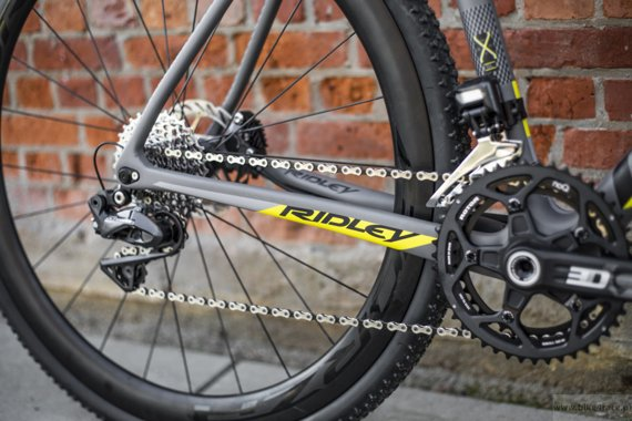Cyclocross bicycle RIDLEY X-NIGHT SL DISC - Ultegra Hydraulic Disc – color XNI-03BM (Grey-Black-Yellow)