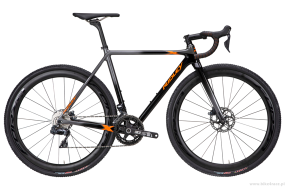 Cyclocross bicycle RIDLEY X-NIGHT SL DISC - Ultegra Hydraulic Disc – color XNI-05AS (Black-Orange-Anthracite)