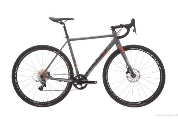 Cyclocross bicycle RIDLEY X-RIDE DISC - 105 ML Hydraulic Disc – color XRI-02CM (Grey-Black-Orange)