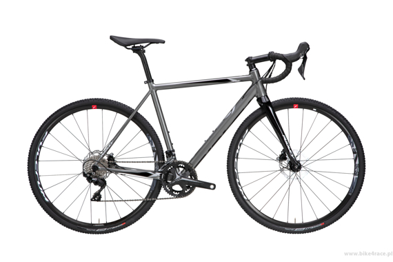 Cyclocross bicycle RIDLEY X-RIDE DISC - Rival1 Hydraulic Disc – color XRI-03AS (Grey Metallic-Silver-Black)