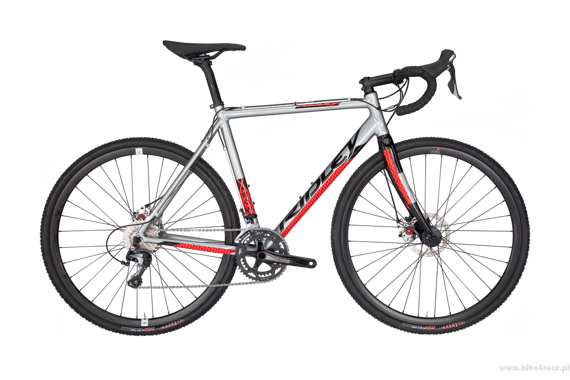 Cyclocross frameset RIDLEY X-BOW DISC – color XBO-03AS (Silver-Black-Red)