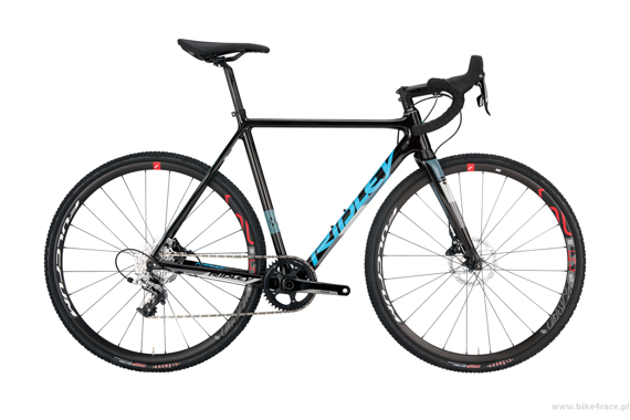 Cyclocross frameset RIDLEY X-NIGHT DISC – color XNI-04CS (Black-Blue-Grey)