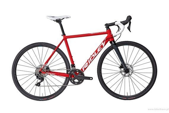 Cyclocross frameset RIDLEY X-RIDE DISC – color XRI-04AS (Red-White-Black)