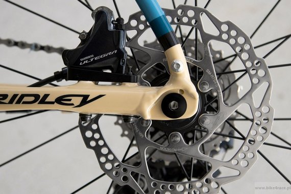 Gravel bicycle RIDLEY KANZO A - Apex1 - color KAA-02C (Beige-Black-Blue)