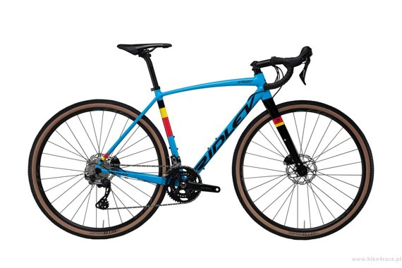 Gravel bicycle RIDLEY KANZO A - GRX600 2x11s - color KAA-02B (Belgian Blue-Black)