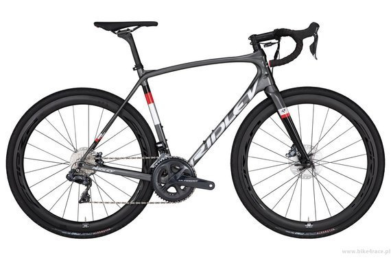 Gravel bicycle RIDLEY KANZO C SPEED - Ultegra Hydraulic Disc – color KAS-01BS (Anthracite-Silver)