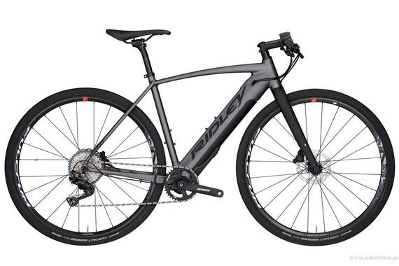 Gravel bicycle RIDLEY KANZO ELECTRIC - XT Flatbar Hydraulic Disc – color KAE-01AM (Anthtacite-Black)