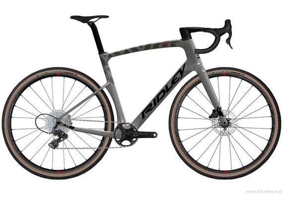 Gravel bicycle RIDLEY KANZO FAST - Campagnolo Ekar 1x13s Hydraulic Disc – color KAF-01BS (Anthracite Metallic-Empress Grey Metallic)