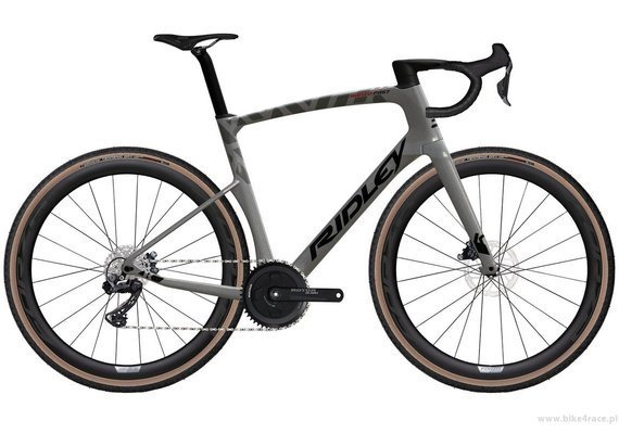 Gravel bicycle RIDLEY KANZO FAST - GRX800 1x11s Di2 Classified Hydraulic Disc – color KAF-01BS (Anthracite Metallic-Empress Grey Metallic)