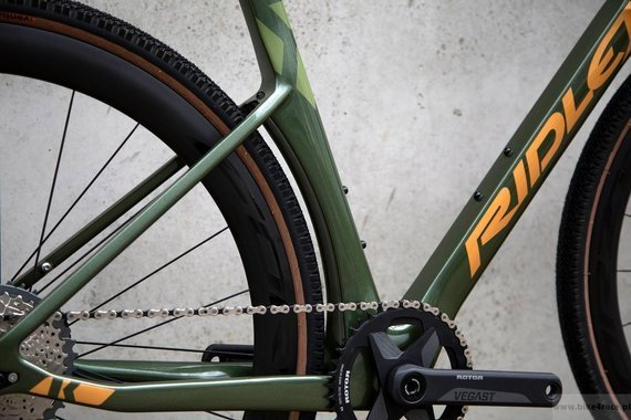 Gravel bicycle RIDLEY KANZO FAST - Rival1 - color KAF-01AS (Army Green Metallic-Gold Metallic)