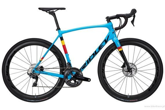 Gravel bicycle RIDLEY KANZO SPEED - GRX800 2x11s - color KAS-01AS (Belgian Blue-Black)