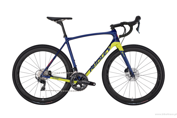 Gravel bicycle RIDLEY X-TRAIL C - 105 ML Road Hydraulic Disc – color XTR-02AS (Dark Blue-Lime)