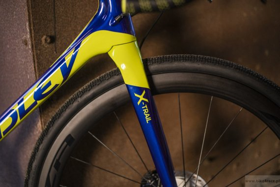 Gravel bicycle RIDLEY X-TRAIL C - Rival1 Gravel Hydraulic Disc – color XTR-02AS (Dark Blue-Lime)