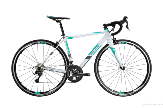 Road bicycle RIDLEY AURA SLA - 105 ML – color AUA-01AS (White-Green-Black)