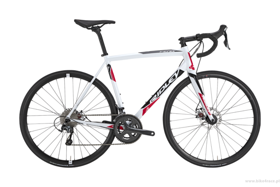 Road bicycle RIDLEY FENIX A DISC - Tiagra Mechanical Disc – color FEA-02BS (White-Black-Red)