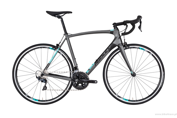Road bicycle RIDLEY FENIX C - 105 ML – color FEC-03BST (Anthracite Grey-Black-Celeste)