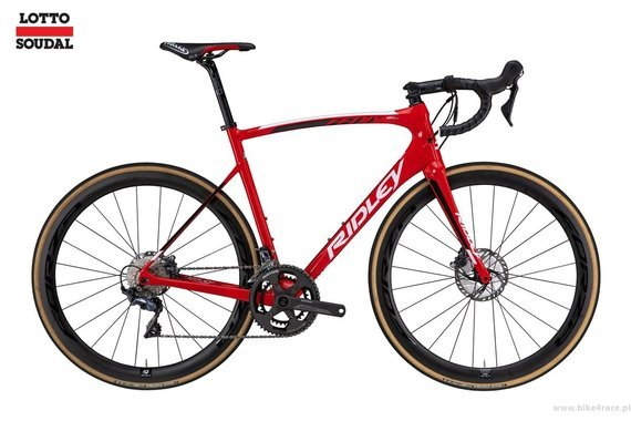 Road bicycle RIDLEY FENIX SL DISC - Ultegra Di2 Hydraulic Disc – color R-FSD-09AS (Lotto-Soudal Team Replica)