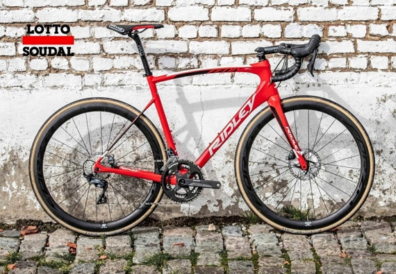 Road bicycle RIDLEY FENIX SL DISC - Ultegra Hydraulic Disc – color R-FSD-09AS (Red-White-Black) CLASSICS LIMITED EDITION