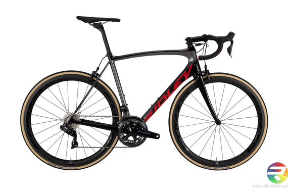 Road bicycle RIDLEY FENIX SL - Ultegra - color FSL-08AS (Black-Anthracite-Red Metallic)