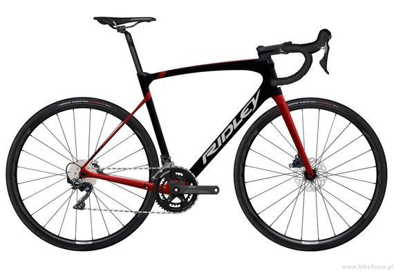 Road bicycle RIDLEY FENIX - Ultegra - color FSD30AS (Black-Candy Red Metallic-White)