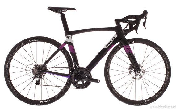 Road bicycle RIDLEY JANE SL DISC - Ultegra – color JSL-01AM (Black-White-Purple)