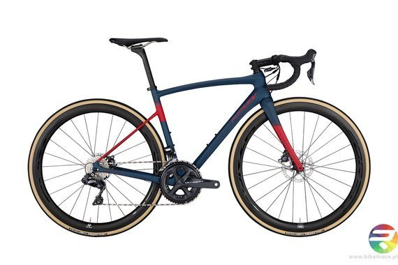 Road bicycle RIDLEY LIZ SL DISC - 105 ML Hydraulic Disc - color LSD-02AM (Midnight Blue-Aubergine-Red)