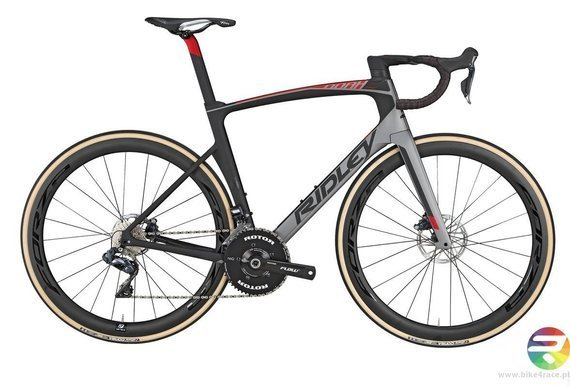 Road bicycle RIDLEY NOAH FAST DISC - Super Record Hydraulic Disc - color NFD-01AM (Grey Metallic-Black-Red Metallic)