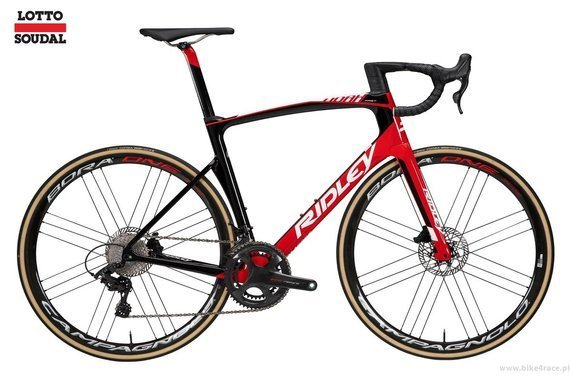 Road bicycle RIDLEY NOAH FAST DISC - Super Record Hydraulic Disc - color R-NFD-09AS (Lotto-Soudal Team Replica)