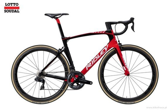 Road bicycle RIDLEY NOAH FAST - Super Record - color R-NFC-09AS (Lotto-Soudal Team Replica)