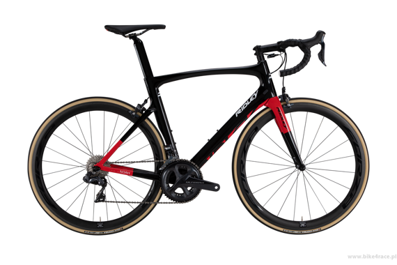 Road bicycle RIDLEY NOAH - Potenza - color NOA-07AS (Black-Red)
