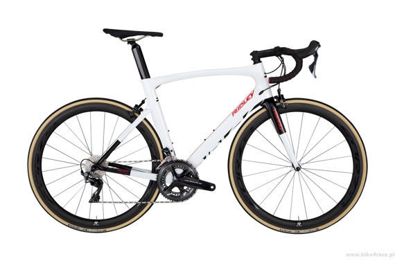 Road bicycle RIDLEY NOAH - Ultegra ML - color NOA-07CS (Pearlwhite-Red-Black)