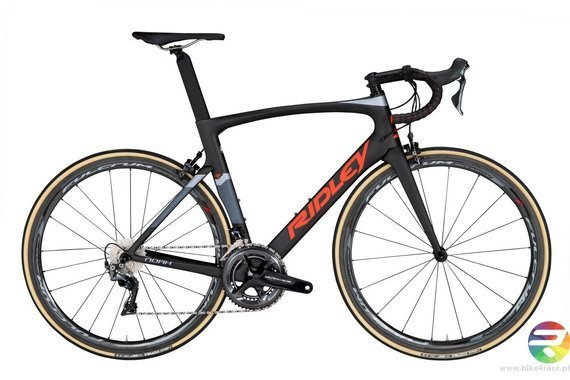 Road bicycle RIDLEY NOAH - Ultegra - color NOA-08AM (Night Black-Vermillion Red-Silver Blue)