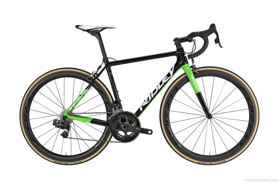 Road frameset RIDLEY AURA X - color R-D660AS (Black-Green)