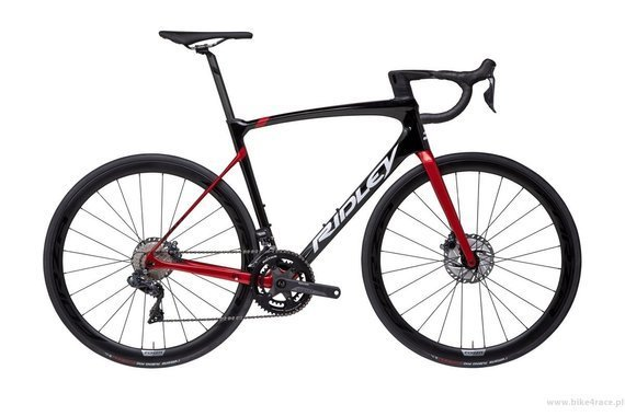 Road frameset RIDLEY FENIX - color FSD30AS (Black-Candy Red Metallic-White)
