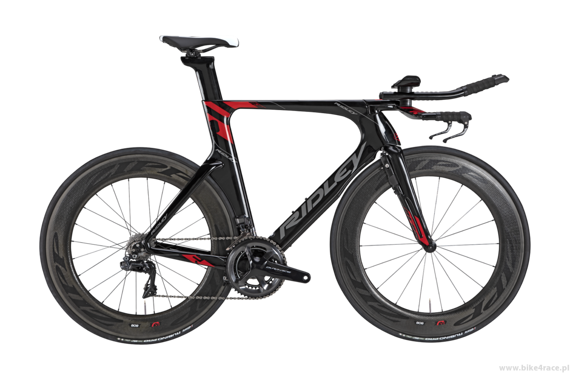 TT/triathlon bicycle RIDLEY DEAN FAST - DuraAce Di2 - color 1516B (Black-Grey-Red)