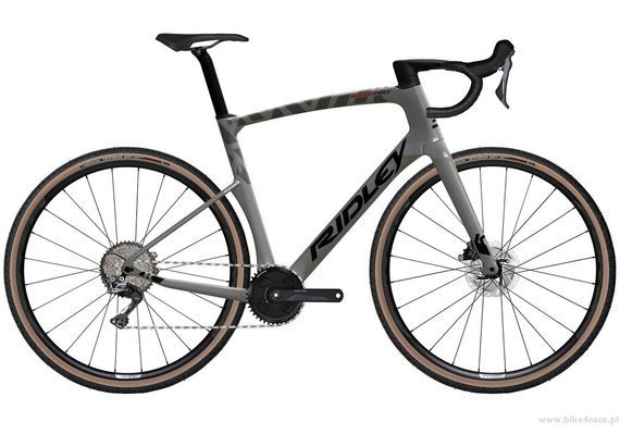 Rower gravel RIDLEY KANZO FAST - GRX800 1x11s Di2 Hydraulic Disc – kolor KAF-01BS (Anthracite Metallic-Empress Grey Metallic)