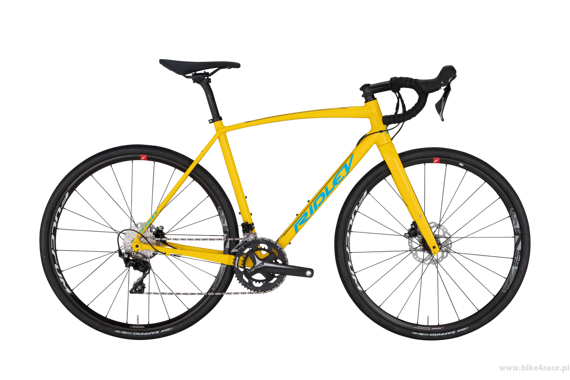 Rower gravel RIDLEY X-TRAIL A - Apex1 Gravel Mechanical Disc – kolor XTA-02AST (Yellow-Belgian Blue-Black Reflective)